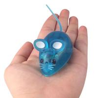 robôs do gato venda por atacado-Robô Rato brinquedos com Luz CONDUZIDA 4 Cor engraçado mini Bionics Jogo para Pet gato brinquedos para crianças crianças presente de aniversário de natal
