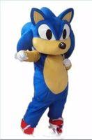 trajes de caráter de alta qualidade venda por atacado-2018 de alta qualidade hot hedgehog sonic traje da mascote partido dos desenhos animados do caráter ou fonte comercial adulto tamanho