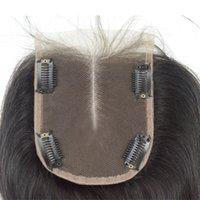 18 kıvırcık insan saç toptan satış-Dantel Kapatma 4 Virgin Klip Brezilyalı Virgin İnsan Saç 4x4 BW / SS / DW / LW / KC / Kıvırcık Saç Üst Kapatma