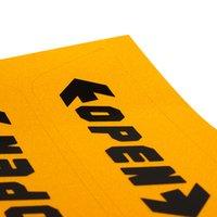 etiquetas da cor do carro venda por atacado-4 pçs / set Etiqueta Do Carro Auto Decoração Da Porta Aberta Aviso 2 Cor Car-Styling Reflexivo Adesivo Aberto