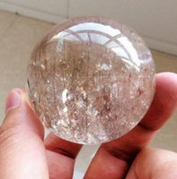 rutilierter kristall großhandel-Natürliche Goldhaar Rutilated Crystal Ball SPHERE Quarz Probe