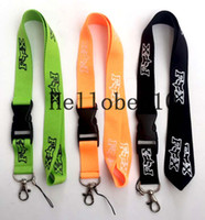Wholesale branded keychains - Foxl fashion brand Lanyard ID Badge Key Holder chain Neck Strap Detachable there are three colors to choose from