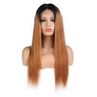 Wholesale ombre middle part wigs for sale - Group buy LIN MAN Lace Front Human Hair Wigs Middle Part Glueless Lace Wigs Brazilian Remy Hair Ombre Color Hair Wigs