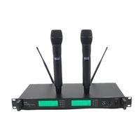 el profesyonel kablosuz mikrofon sistemi toptan satış-Profesyonel UR24D PLL Gerçek Çeşitlilik UHF Kablosuz Sistemi Ile Çift El Kablosuz Mikrofon Sahne Karaoke