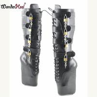 sapatos de balé atam venda por atacado-Wonderheel sexy ballet shoes ultra salto alto 7