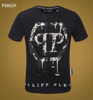 круглые дисплеи оптовых-Мужская футболка, классический маленький круглый воротничок, сильный уличный стиль, более темпераментный мужской мужской дисплей-1118