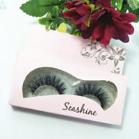 Wholesale korean fake lashes resale online - 2018 Seashine handmade real korean silk fiber false eyelash D strip fake lashes Cute eyelashes for Makeup beauty