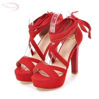 бежевые босоножки оптовых-оптовая партия стиль летние сандалии мода кружева-up узкая полоса оранжевый бежевый черный розовый красный шпильки на высоком каблуке женская обувь