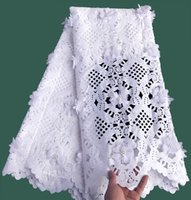 Wholesale Organza Fabric Lace - plain white Top class Handcut lace Swiss lace fabric African wedding lace fabric with beads appliques