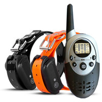 Wholesale Two Dog Shock Collar - 1000m Remote dog Collar Waterproof Rechargeable Electric Anti Bark E-Collar Dog Training Collar,Dog Shock Collar Training for 2 Dogs