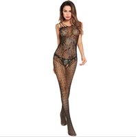 Wholesale adults socks - Europe and the United States super elastic sexy lingerie lace garters adult Siamese stockings open Crotch net socks