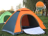 ingrosso tende di buona qualità-Tenda apribile automatica rapida Tenda da spiaggia portatile istantanea Riparo Escursionismo Campeggio Tende da campeggio per famiglie anti-UV per 2-3 persone Buona qualità