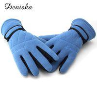 Wholesale Dark Purple Gloves - New Winter Thicken Fleece Warmer Gloves for Men Women Anti-Slip Durable Outdoor Gloves Equipment Female Mittens Guantes Luva