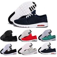stefan janoski max chaussures achat en gros de-Nouvelle Arrivée Hommes Chaussures De Course Avec Tag Nouvelle Mode SB Stefan Janoski Maxes Hommes et Femmes De Mode Sneakers Chaussures EUR 36-45 Livraison Gratuite