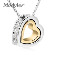 Wholesale old fashioned necklaces - Modyle old-Color Austrian Crystal Luxury Brand Heart Necklaces & Pendants Fashion Jewelry for Women 2017