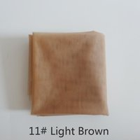 Wholesale light brown wig closures - 1 yard light brown swiss lace for wig making and wig caps lace wigs material or lace closure, 5 color available high quality