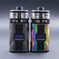 Wholesale Couples Kit - Original Tesla CP Couples Kit 220W from Teslacigs Double Atomizers Vape Mod with two hi drain 18650 batteries 2 Colors Ecig DHL Free