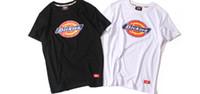 ingrosso marche di abbigliamento giapponese-T-shirt da uomo marca giapponese Dickies T-shirt bianca nera da donna