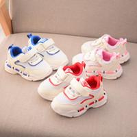 sapatas de passeio das meninas primeiras venda por atacado-2018 Outono novo estilo de moda bebê sapatos casuais antiderrapante macio recém-nascidos primeiro andar sapatos respirável meninos e meninas esportes