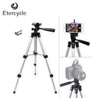 kamerahalterclip großhandel-Etercycle 260-590mm Portable Kamera Stativ Aluminium-Legierung mit Handy-Halter Clip für Canon Nikon Sony DSLR-Kamera-Handys