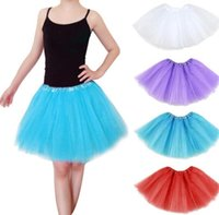 Wholesale women dancing mini skirts - Adults Girls Tutu Skirt Mini Dance Wear Pettiskirt Ballet Dancing Lace Dresses Bubble skirt Christmas Party Clothes Women Dress KKA4224