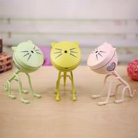 Wholesale Ultrasonic Ion - Cute Cat Humidifier Multi Color Cartoon Mini USB Mute Ultrasonic Essential Oil Diffuser High Quality 35mt C R