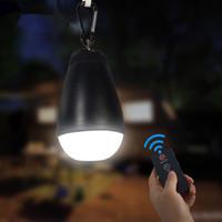 ingrosso ha condotto le lanterne a distanza-Lanterna portatile ricaricabile per lanterne luminose Lampada ricaricabile a LED Lampada impermeabile per tende a 3 modalità Illuminazione Lanterne da campeggio