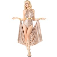 Wholesale free new indian dresses for sale - New Egyptian Queen Cleopatra Costumes Sexy Backless Women Dresses Cosplay Halloween Costume Party Fancy Ball Clothing By DHL Hot Selling