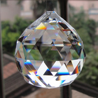 фасетная хрустальная люстра оптовых-20 шт. / лот 30 40 50 мм мяч Призма люстра Кристалл граненый стекло Кристалл