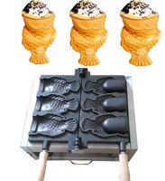 máquina de cono de waffle al por mayor-Envío gratis 3 unids Fish Waffle Maker Helado Máquina de Taiyaki Fish Cone Maker