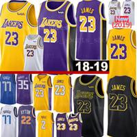 super popular e96b8 8dd3c New Lakers 23 LeBron James 2 Lonzo Ball Jersey Mavericks 77 Luka Doncic 22  DeAndre Ayton Basket Maglie cucite Loghi