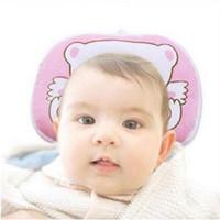 projeto do descanso das crianças venda por atacado-Bebê Urso Padrão de Algodão Travesseiro Para Berço Branco Criança Crianças Crianças Super Bonito Padrão de Cor Especialmente Design de Algodão Macio travesseiro