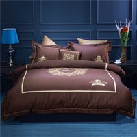 Wholesale Royal Duvet - Wholesale High Quality Duvet Cover 4 6 pcs Queen King Size Set of Bed Linen Luxury Bedding Set Royal Bed Linen Bedclothes
