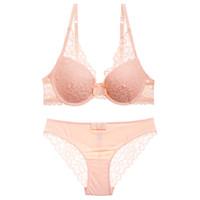 b56c282c9 2018 Hot Luxo lace 3 4 do copo meninas jovens beleza voltar sexy mulheres  Lingerie push up bra set calcinha conjunto de roupa interior ajustável