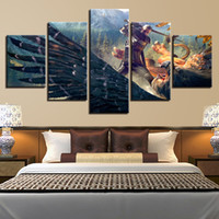 Wholesale modern fashion games for sale - Group buy Wall Art Poster Modern Home Decor Living Room Pieces Witcher Game Characters Scene Canvas Print Painting Modular Picture Frame