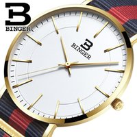 роскошные ультратонкие часы оптовых-Швейцария BINGER мужские часы люксовый бренд ультратонкий limited edition водонепроницаемый влюбленных кварцевые наручные часы B-3050M-3