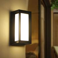 siyah ampuller toptan satış-Modern Açık LED Duvar Lambaları Ampul IP54 Su Geçirmez dış Sundurma ışıkları Ev Dışında Bahçe Duvar Işık Fikstür Siyah ve Gri Renk