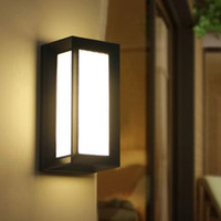 Wholesale modern bulb wall light for sale - Modern Outdoor LED Wall Lamps Bulb IP54 Waterproof exterior Porch lights House Outside Garden Wall Light Fixture Black and Grey Colour