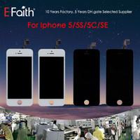 iphone 5g de la pantalla táctil del reemplazo al por mayor-Tianma Glass Grade A +++ Pantalla LCD Pantalla táctil Pantalla táctil del digitalizador para iPhone 5G / 5S / 5C / SE Piezas de reparación de reemplazo Envío gratis