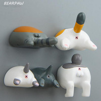 figura ímãs venda por atacado-1 Pçs / set Criativo Cat Bottom Miniatura Brinquedos Figura de Ação Toy Fridge Magnet Crianças Presente de Aniversário