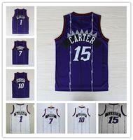 Wholesale free ncaa - NCAA Wholesale 2018 Men Retro 7 Kyle Lowry Shirt 10 Demar DeRozan Jerseys 15 Vince Carter,1 Tracy McGrady Basketball Jersey free shipping
