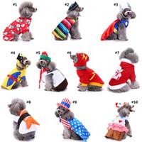 roupa de natal pequeno cão venda por atacado-Pet Halloween Costume roupas para cachorros Para Brasão Small Dog Natal Cães roupas de festa de aniversário Jackets Transform Costumes