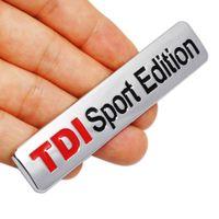 vw turbos al por mayor-Metal rojo TDI Sport Edition Logo Turbo Car Letter Sticker Emblem Chrome Insignias para VW POLO GOLF CC TT JETTA GTI TOUAREG