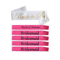 acryl schnuller charme großhandel-Am billigsten!!! Bachelorette saches Brautjungfer Sashe Braut, zum des Brautparty-Gastgeschenk-Geschenk-Dekorations-Versorgungsmaterials zu sein