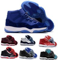 Wholesale Velvet Fabrics - 11 Basketball Shoes Mens Women Gym Red Win Like 96 82 GS Bred Space Jam Heiress Velvet Chicago Concord 11s Athletic Shoe Sneakers