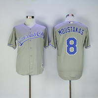 mike moustakas jersey al por mayor-# 16 ROYALS BO JACKSON # 35 Eric Hosmer # 13 Salvador Perez # 8 Mike Moustakas # 4 gordon Camiseta de béisbol