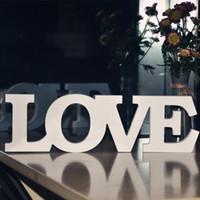 accesorios de fotos de boda de la vendimia al por mayor-Eco-Friendly blanco Amor letras de madera romántico del empotrable hogar de la boda decoración de la tabla de matrimonio boda del amor apoyos de la foto