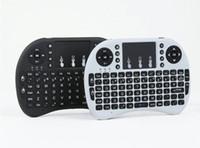 yeni andriod kutu toptan satış-YENI Taşınabilir mini klavye Rii Mini i8 PC için Touchpad ile Kablosuz Klavye Pad Google Andriod TV Kutusu perakende paketi ile DHL