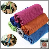 Wholesale pad outdoor - 11 Colors 30*90cm Cool Towel New Ice Cold Enduring Running Jogging Gym Chilly Pad Instant Cooling Outdoor Sports Towel CCA9493 300pcs