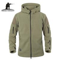 Wholesale men s military uniform - Winter Tactical Jacket Military Uniform Soft Shell Fleece Hoody Jacket Men Thermal Clothing Casual Hoodies